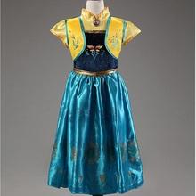תינוק בנות שמלת חג המולד אנה אלזה Cosplay תלבושות קיץ שמלות ילדה נסיכת אלזה שמלת עבור יום הולדת מסיבת Vestidos Menina(China)