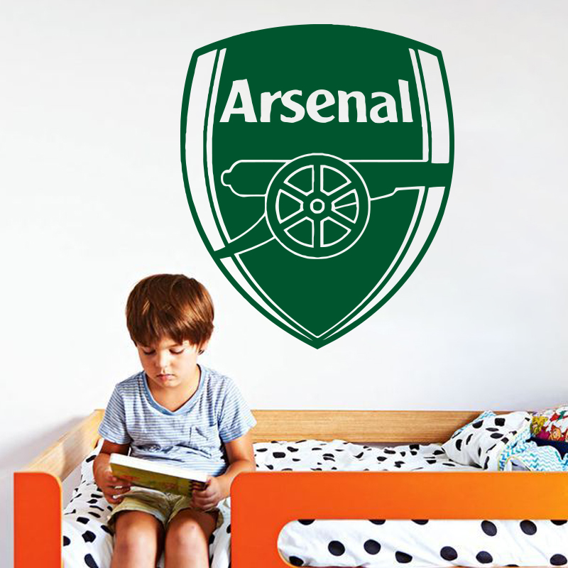 JJRUI ARSENAL LOGO Decal Removable Wall Sticker Art Home Decor Football 22.4x26.8in(China (Mainland))