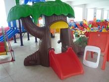 Baby plastic slide indoor playground kids plastic playhouse children outdoor play house magic tree house(China (Mainland))