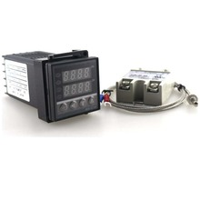 Dual Digital PID Temperature Controller REX-C100 with thermocouple K, SSR 40A , SSR-40A F0027-3