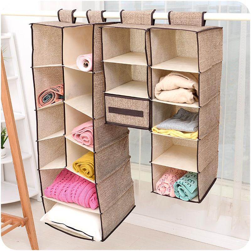 Korea creative cotton Wardrobe hanging storage bag Waterproof clothing storage bag with drawers for choose(China (Mainland))