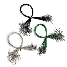 New Arrival 72PCS/lot Fishing Tackle Lure Trace Wire 15cm 23cm 30cm Length Anti-bite Green Fishing wire(China (Mainland))