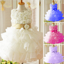 2015 New Girl Dress Chiffon Children Clothing Summer Kid Dresses For Girls Cute Children Girl White Princess Dress Party Dresses(China (Mainland))