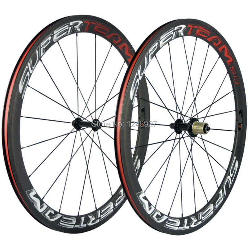 Ship From US 50mm Clincher Carbon Wheels Superteam Carbon Road Wheelset Basalt Brake Powerway R13 Bicycle Wheel Clincher(China (Mainland))