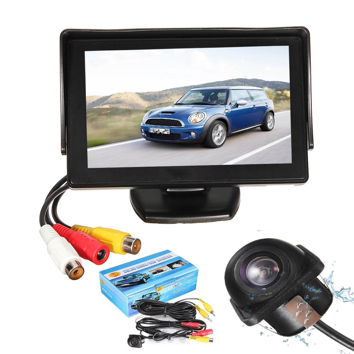 2016 Brand New 4.3 Inch TFT LCD Car Rear View Backup Monitor Waterproof Night Vision Camera Kit(China (Mainland))