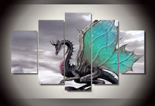 Framed Printed cool enchanting dragon picture Painting wall art room decor print poster picture canvas Free shipping/ny-860