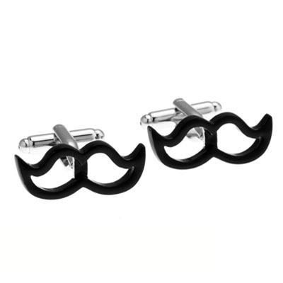 Black Beards Cufflink Cuff Link 2 Pairs Free Shipping Promotion(China (Mainland))