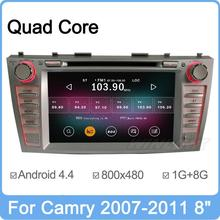 8″ Android 4.0 Car DVD For Toyota Camry 2007-2011 With GPS Navigation Stereo RDS Radio TV Bluetooth 3G Free WiFi Dongle Free Map