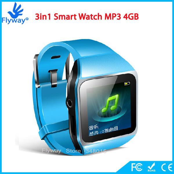 2015 New Ultrathin Touch Screen Bluetooth Smart Watch MP3 Player Sport Running Lossless MP3 Players 4GB Memory Capacity(China (Mainland))