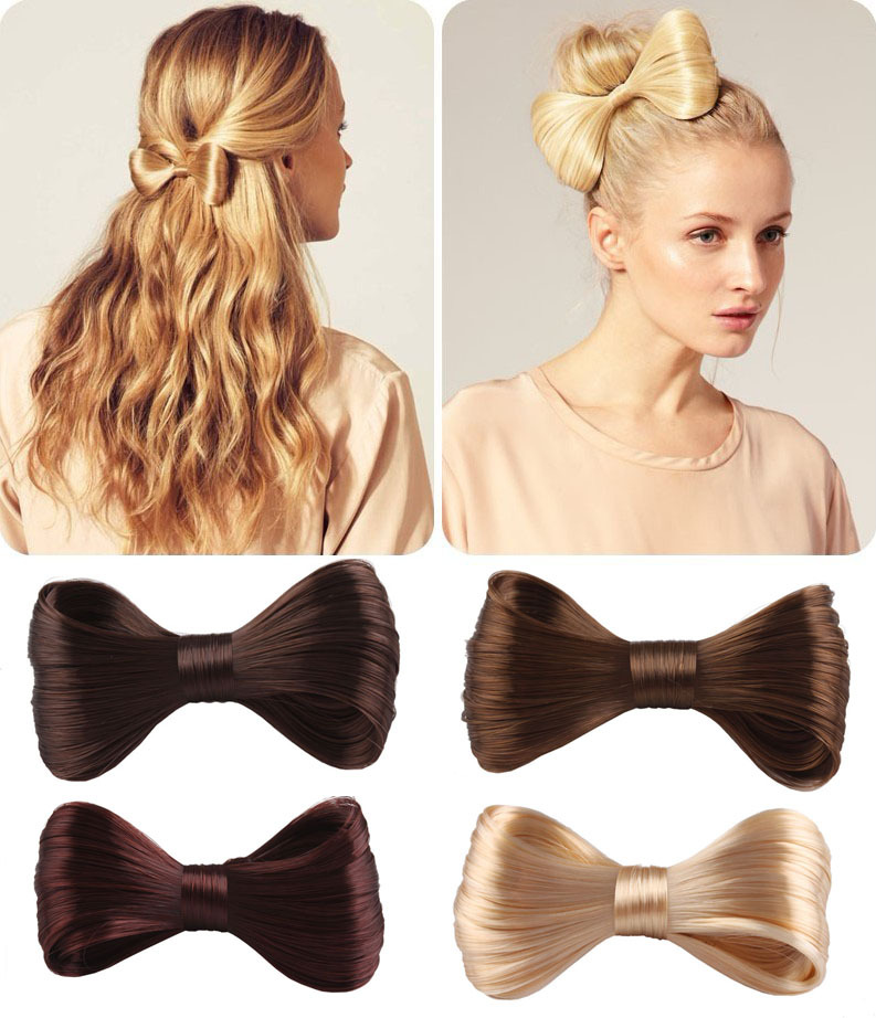 New Fashion Big Bow Ties Wig Hairpin Hair Bow Clips Women Girls' Hair accessories(China (Mainland))