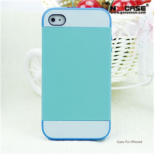 New fashion double color korean sgp linear ex color series two in one pc+silicon case cover for iphone4 4g 4s 4/4s(China (Mainland))