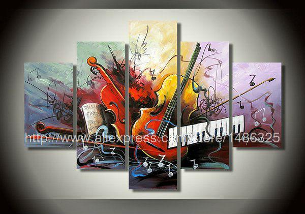 Wall art canvas music : Music canvas high quality five combinations of home decor