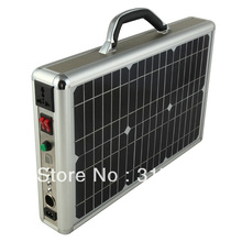 Бесплатная доставка DHL / ups! 15 Вт солнечная портфель ультратонкий солнечной энергии солнечной системы освещения комплект