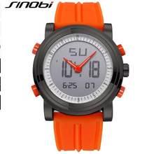 SINOBI Relógio Esportes, Relógios de Pulso Masculinos, Relógio de Quartzo Digital, Relógio à prova d´água Movimento 2, Relógio Masculino, Cronômetro Marca de Luxo, Melhor(China)