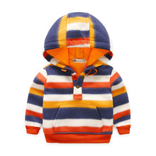 Fashion Baby Boys Jackets Striped Coats Kids Sweatshirts 18M-6Y Children's Clothing Warm Baby Boys Coats Sport Autumn SC460