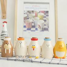 1pc Cartoon Polar Animals Cruet Creative Kitchen Ceramic Spice Jar Seasoning Bottle Barbecue Sauce Pot Salt And Pepper Set(China (Mainland))