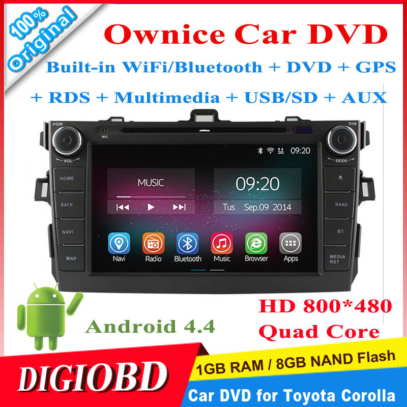 Ownice Car DVD Player for Toyota Corolla 2006-2011 8'' HD 800*480 Android 4.4.2 Quad Core 1G/8G+WiFi/Bluetooth+GPS+Multimedia(China (Mainland))