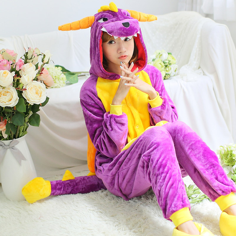 Adults Winter Flannel Pajamas All In One Pyjama Suits Cosplay Costumes Adult Garment Cute Cartoon Animal Onesies Pajamas S-XL(China (Mainland))