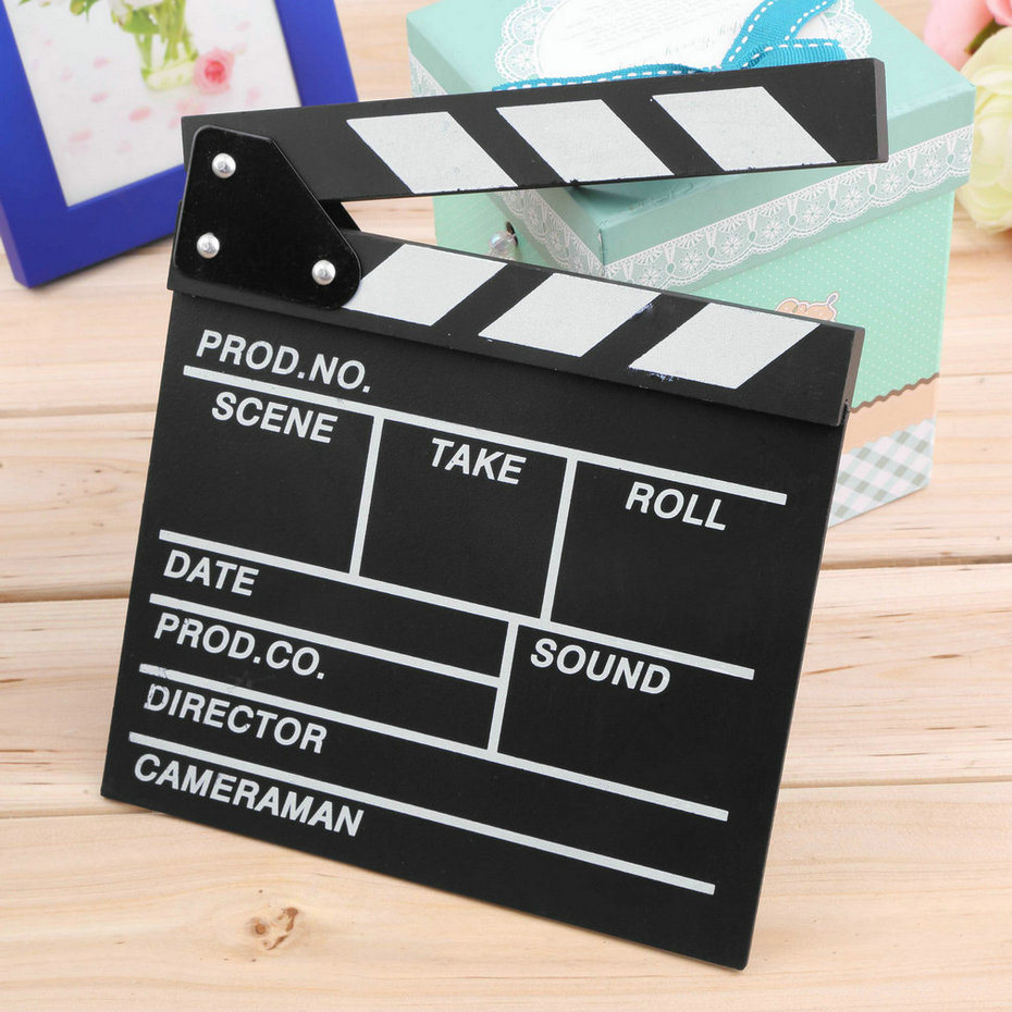 1pc Director Video Scene Clapperboard TV Movie Clapper Board Film Cut Prop  Promotion