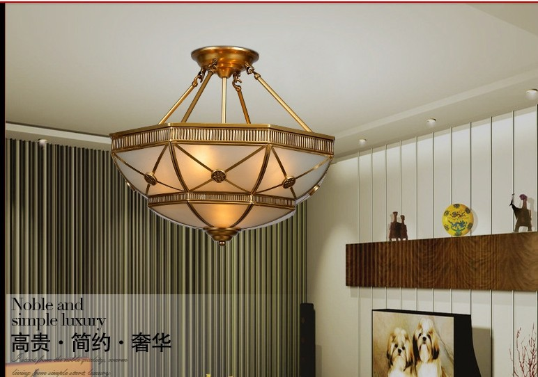 Antique Dining Room Ceiling Lights : Free shipping dia cm copper ceiling lights vintage