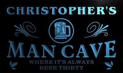 x0011-tm Christopher's Man Cave Home Bar Custom Personalized Name Neon Sign(China (Mainland))