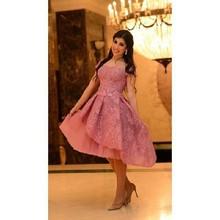 Elegant Pink Lace Cocktail Dresses 2016 High Quality Cap Sleeve A-Line Knee-Lenght Vestido De Festa Curto(China (Mainland))