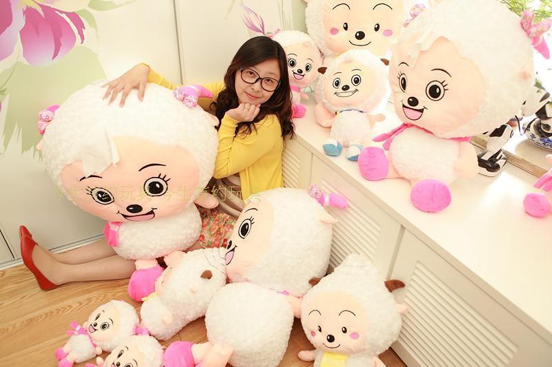 lovely plush goat toy the cartoon goat large stuffed toy huge beauty goat about 100cm(China (Mainland))