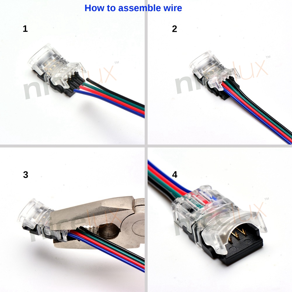 2pin 3pin 4pin 5pin LED Strip Connector for Single RGB RGBW Color 3528 5050 LED Strip to Wire Connection Use Terminals