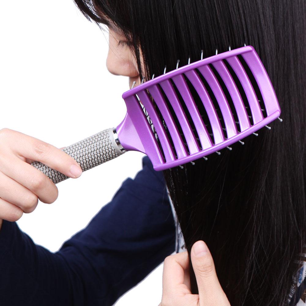 Инструменты для укладки волос OEM Curved Comb средства для ухода и укладки волос restoration comb hairmax laser hair comb