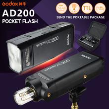 Buy 2017 NEW Godox AD200 Photography Strobe Speedlite Pocket Flash light 200W TTL Lithium battery Sony Canon Nikon Cameras for $305.97 in AliExpress store
