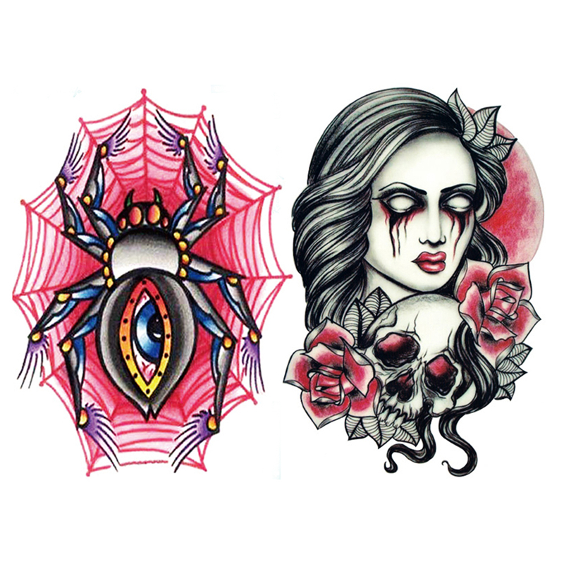 . 1PCS New Creative Water Transfer Waterproof Temporary Tattoo 3D Stickers Sexy Body Art Beauty Makeup for Women and Men(China (Mainland))