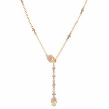 Evbea черный серебро золото цвета череп ожерелье кулон кристалл 50 см длинные хип-хоп choker для женщин ювелирные изделия аксессуары(China (Mainland))