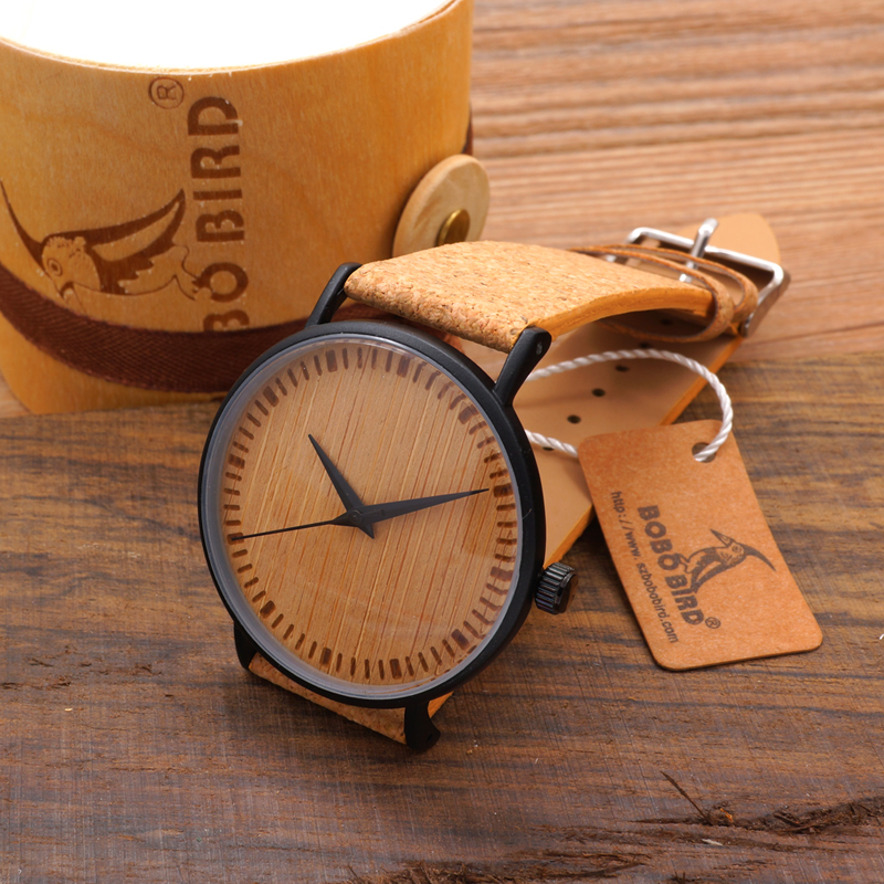 Гаджет  Bobobird RT0464 New Arrival 2015 Top Quality Round Watches Bamboo Watch Face with Stainless Steel Case Cork Leather Bands None Часы