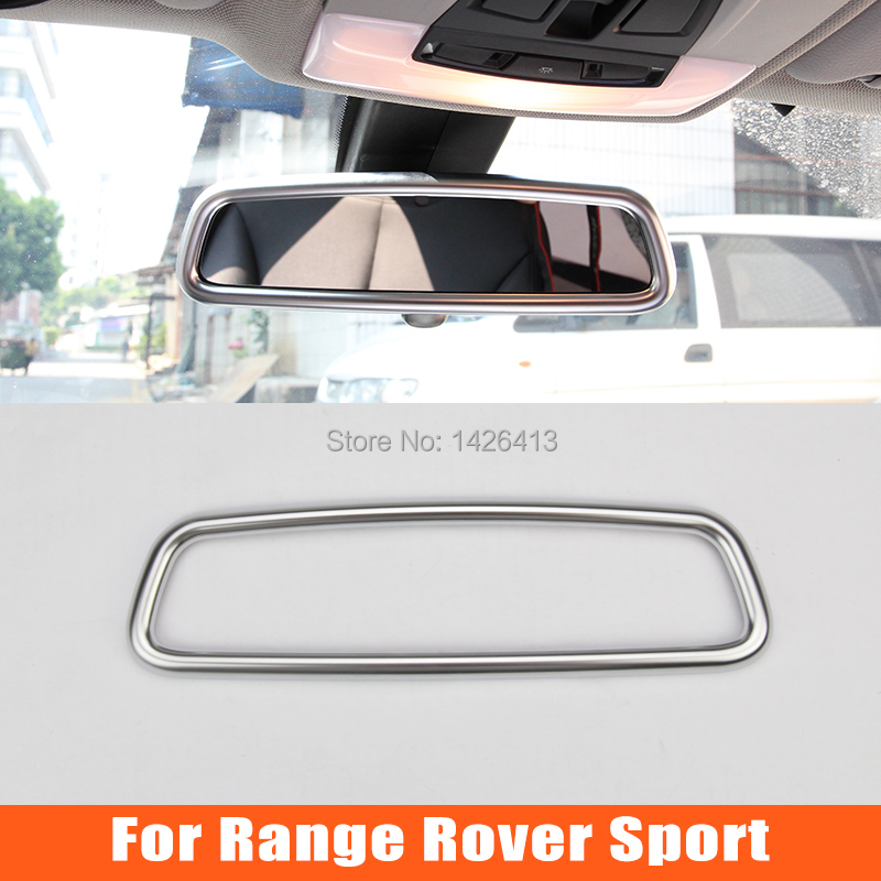 Car Interior Rearview Mirrow Cover Trim Decoration For Range Rover Sport 2010 2011 2012 2013 2014 Auto Accessories(China (Mainland))
