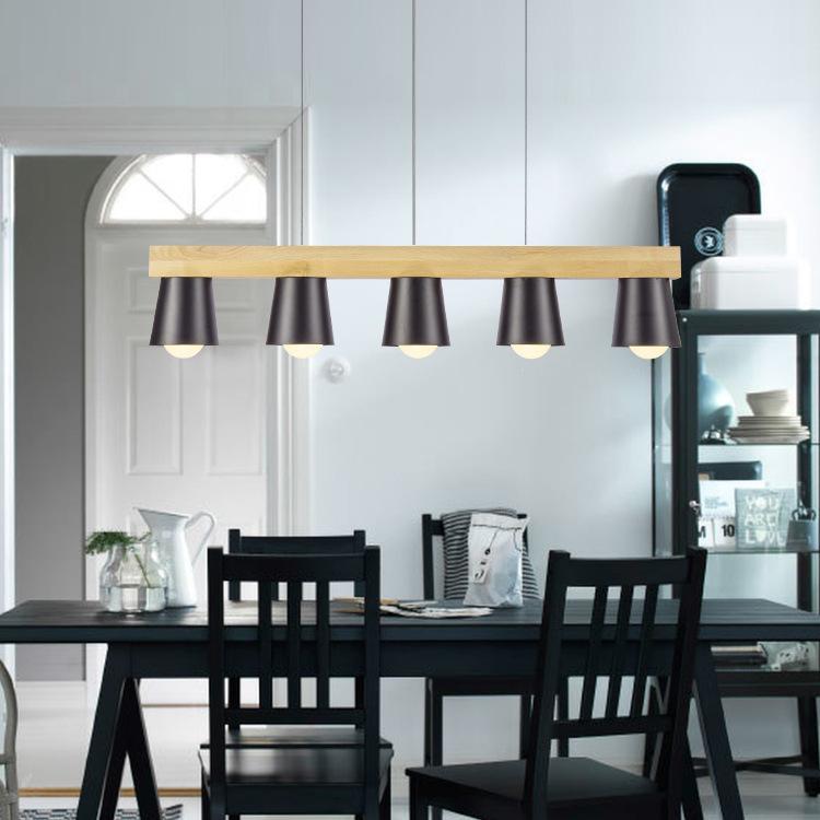 hot modern pendant lights for living room dining room office white black wood pendant lamp modernas luces colgantes para comedor