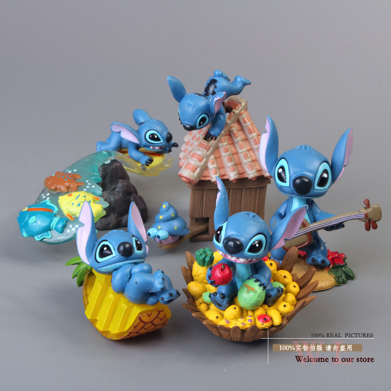 Free Shipping Cute Mini Lilo &amp; Stitch PVC Action Figure Collection Model Toys Dolls 5pcs/set Christmas Gift STFG006<br><br>Aliexpress