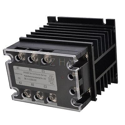Control 90-280VAC Load 380VAC 10A SSR Solid State Relay + Aluminum Heat Sink<br><br>Aliexpress