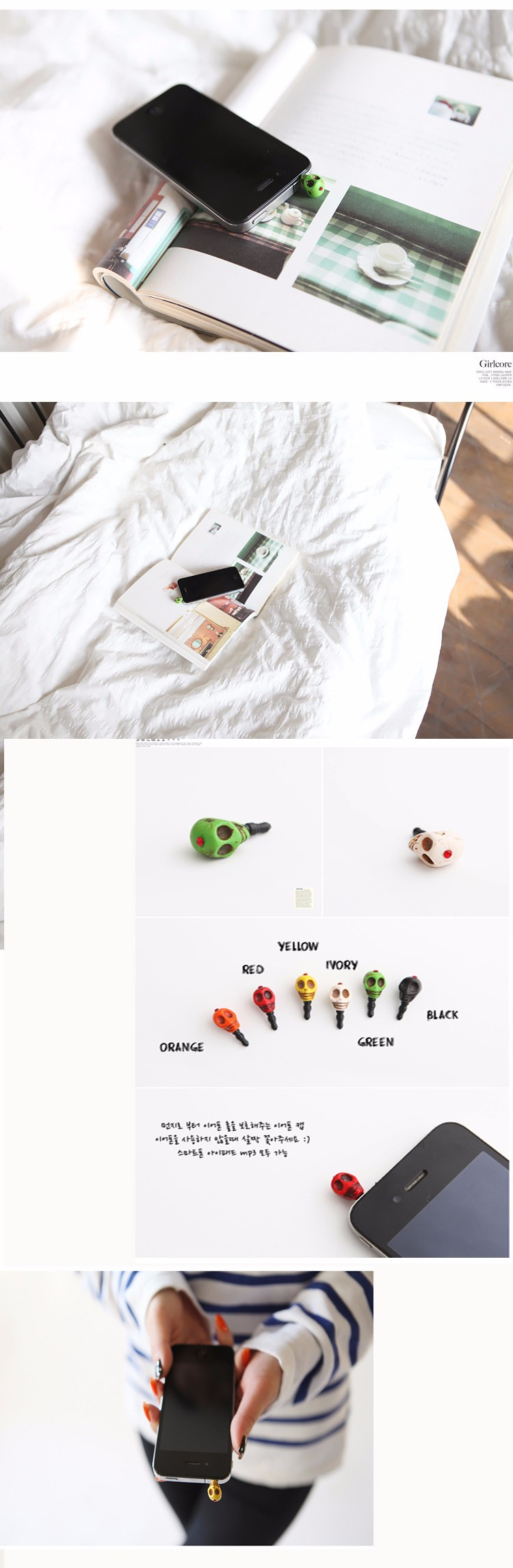 DHL Skull Punk Ghost 3.5mm Jack Anti Dust Plug for Samsung IPHONE xiaomi huawei htc Cell Phone Accessories Plugs Halloween Gift