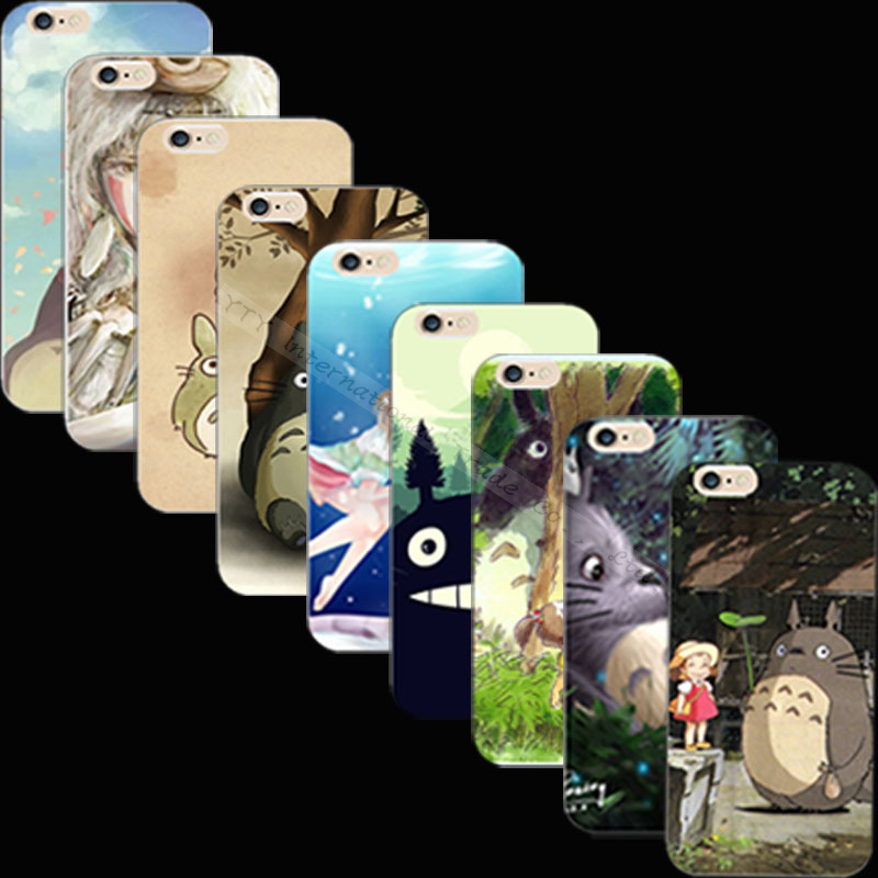 Top Popular Silicon Painting Totoro Scenery Phone Cover Case For Apple iPhone 4 iPhone 4S iPhone4S Cases Shell HNC XAC CIUZ PAK(China (Mainland))
