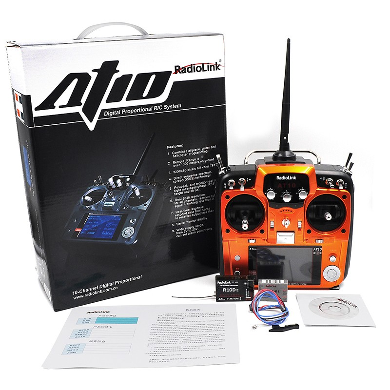 RadioLink-AT10-RC-Transmitter-2-4G-10CH-Remote-Control-System-with-R10D-Receiver-for-RC-Airplane
