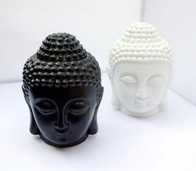 Buddha candle aromatherapy furnace ceramic aromatherapy lamp candle aroma furnace oil lamp essential oil burner home decor gift(China (Mainland))