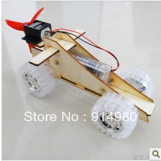 Assembly wind car technology making toys assembly model dismantling toy DIY manual creative toys(China (Mainland))