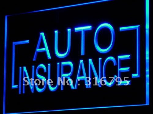 i793-b Auto Insurance Car Shop Display LED Neon Light Sign Wholeselling Dropshipper On/ Off Switch 7 colors DHL(China (Mainland))