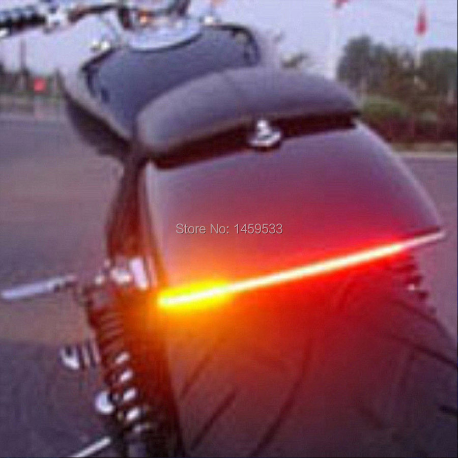 Universal Motorcycle Tail Brake Stop Turn Signal Integrated LED Light Strip For harley sportster XL883 XL1200 Free shiopping(China (Mainland))