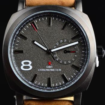 2014 новинка бизнес кварцевые часы мужчины спортивные часы бренд военные часы мужчины кориум кожаный ремешок армии наручные часы