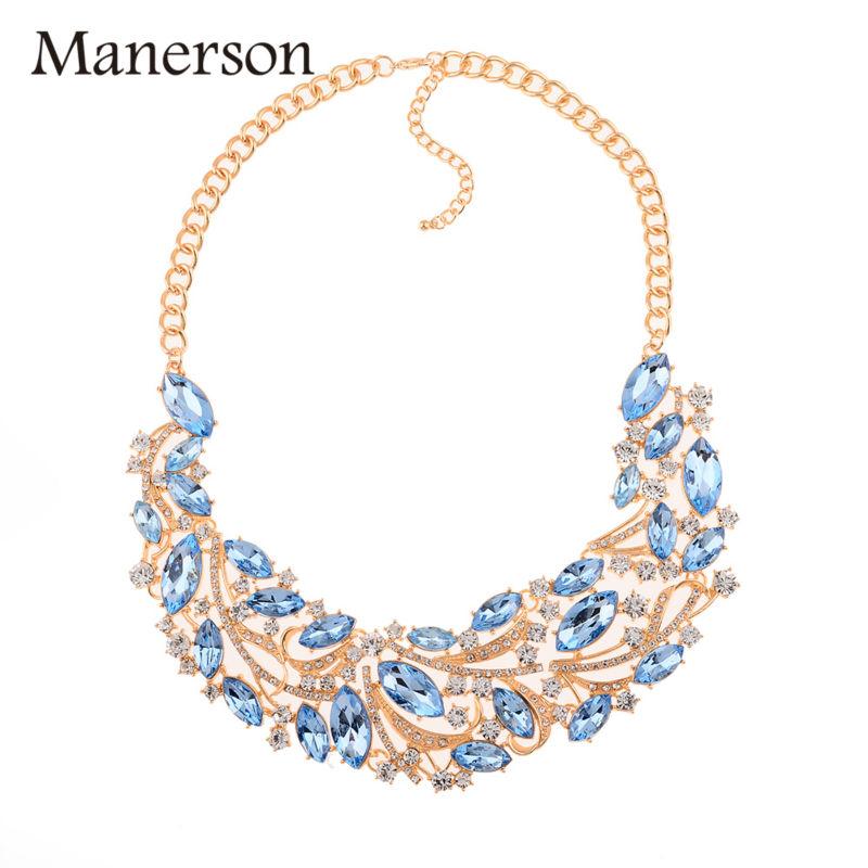 Fashion Trendy Cheap Gold Chain Hollow Out Water Drop Rhinestone Necklace&Pendants Bohemian Maxi Choker Necklace for Women(China (Mainland))