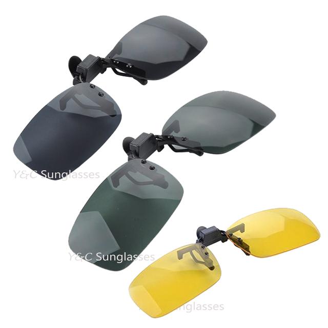 1 шт. 3 цветов объектива рыбий черный день видение желтые очки клип для ночного вождения ...