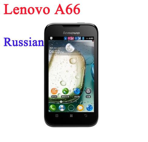 "Original 3.5"" Lenovo A66 android phone MTK6575 1.0GHz 256MB RAM 512MB ROM 2.0MP camera dual SIM cards 3G WCDMA smart phone(China (Mainland))"