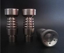 Universal Domeless titanio Nail 14 mm / 18 mm Male grado 2 GR2 titanio Nail se adapta a 14 mm 18 mm cera Dab peine de la miel de la bóveda
