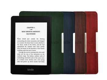 New Natural Wood Pattern Top Wooden Print Smart Folio PU Leather Cover Case For Amazon Kindle Paperwhite Wifi 3G Free Shipping